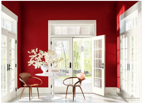 Benjamin Moore color of the year 2018 caliente red